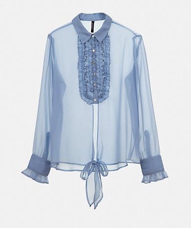 Ruffles Chiffon Shirt