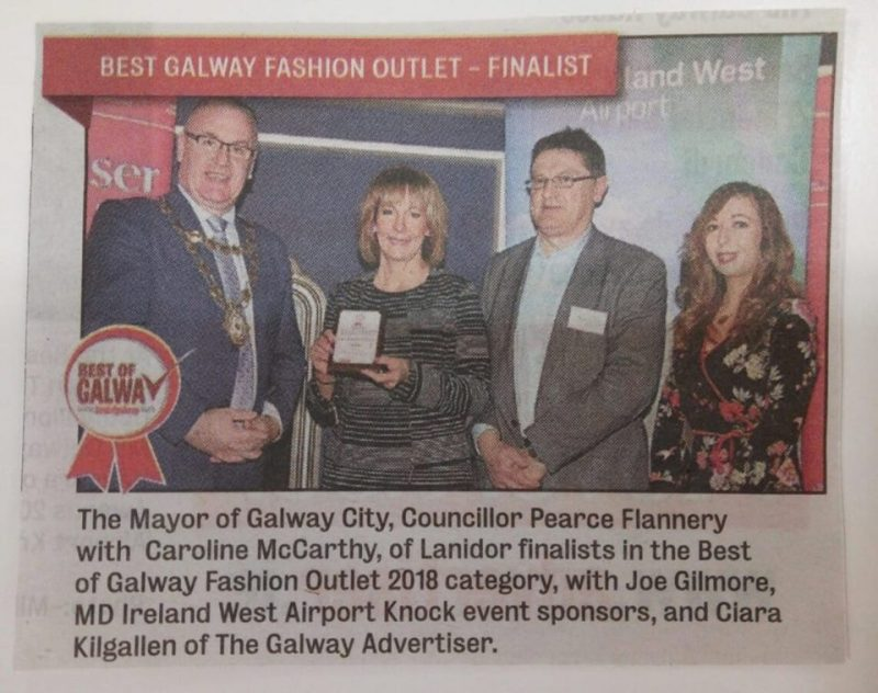 Lanidor Ladies Fashion at the Best of Galway awards