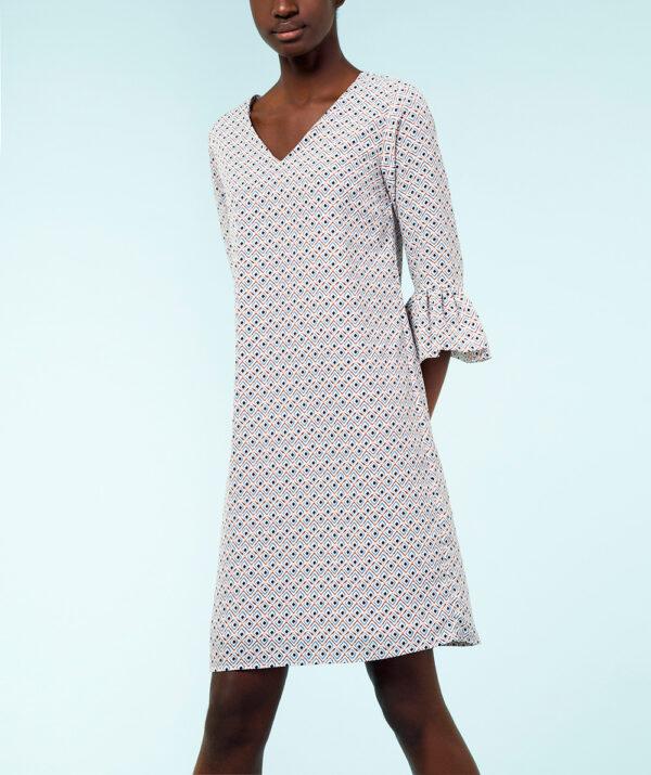 A-line Print Dress