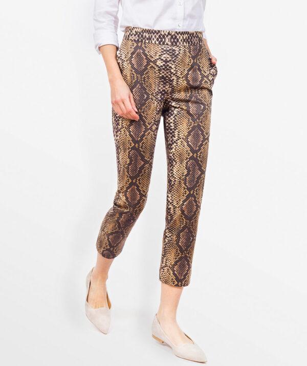 Animal print trousers