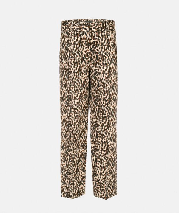 Printed capri trousers