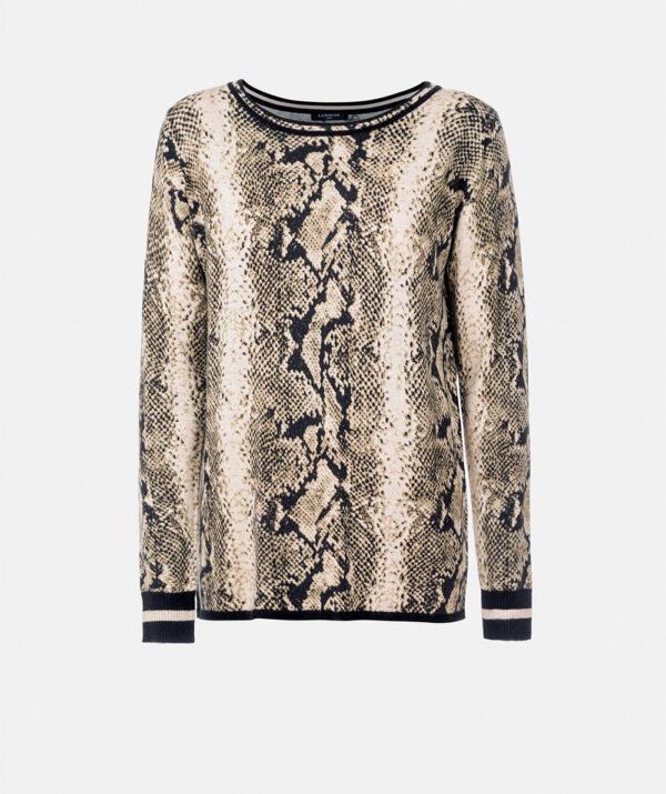 Animal Print Knit Sweater