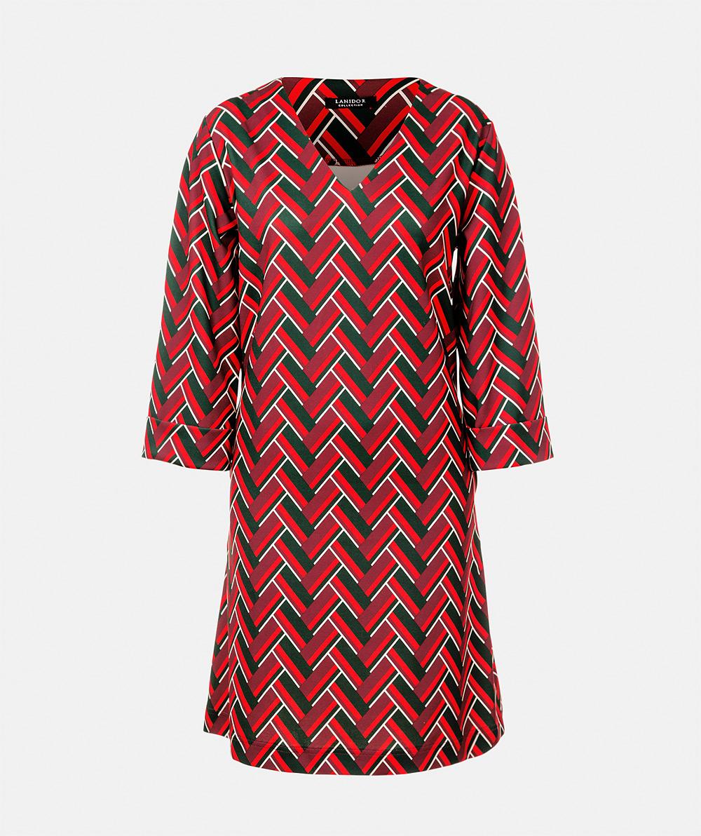 Geometric print dress