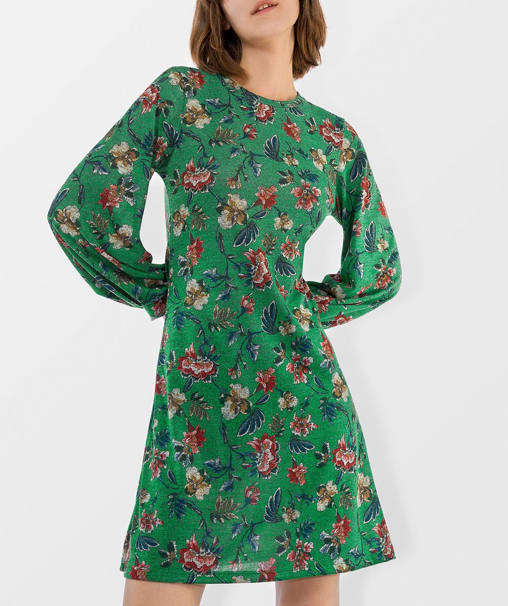 Floral Print Jersery Dress