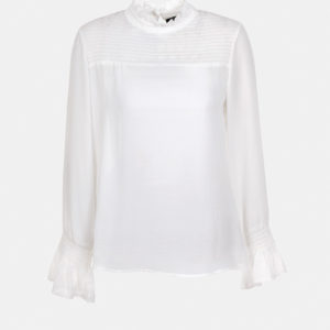 Ruffle blouse with loose cut