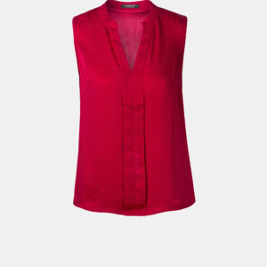 Pleated top with v neck