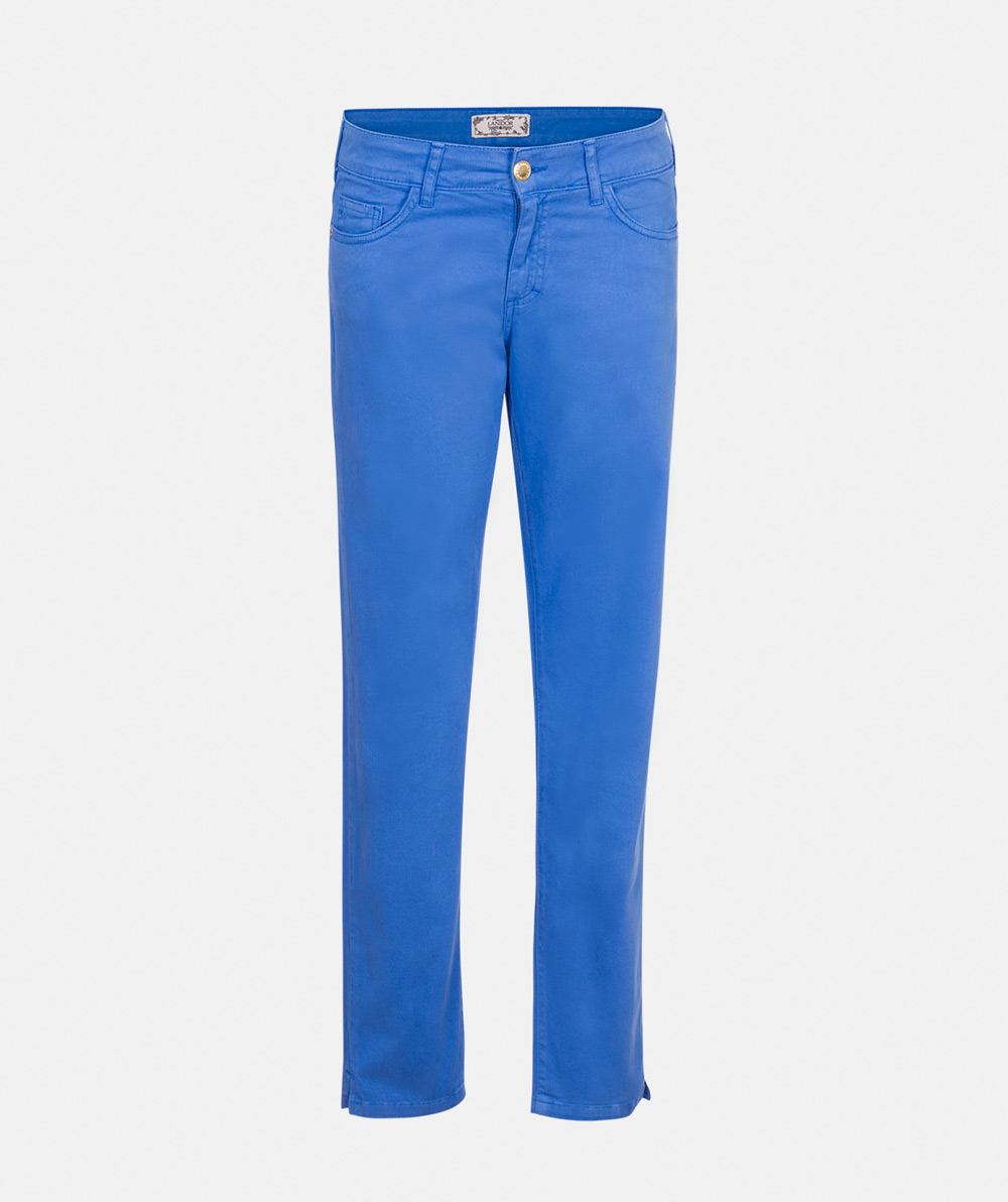 Colorful serge trousers