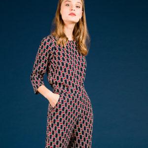 Geometric print blouse