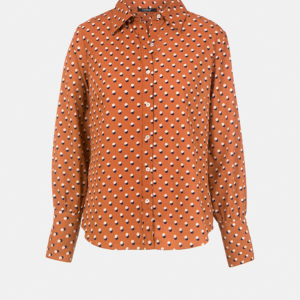 Printed shirt with classic collar