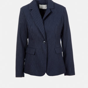 Pinstriped tailored blazer