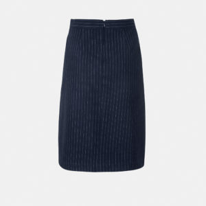 Pinstriped skirt with front pleat