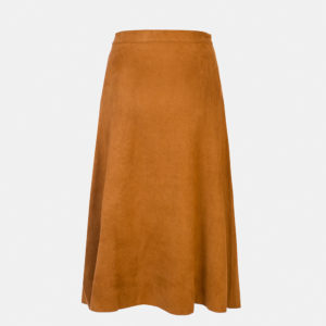 Suede effect skirt