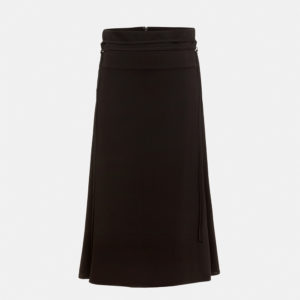 Tie-detailed A-line skirt