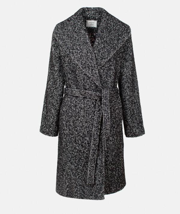 Tweed jacket with shawl collar