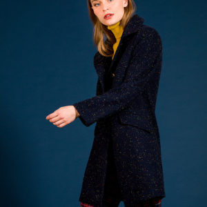 Double breasted tweed jacket