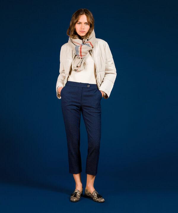 Jacquard capri trousers