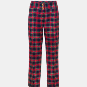 Cropped checked trousers