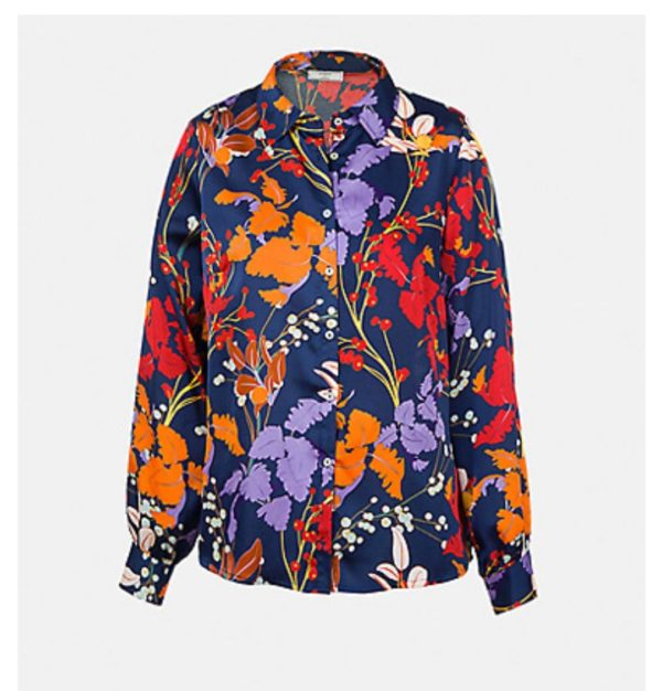 Floral shirt with classic collar
