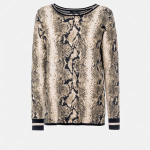Animal Print Knit Sweater