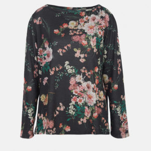 Floral knitted T-shirt