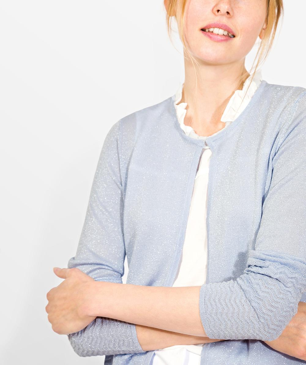 Lurex knit cardigan