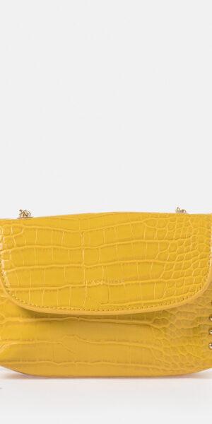 Croc effect shoulder bag