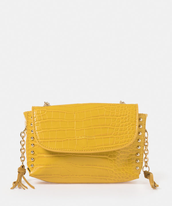Croc effect shoulder bag