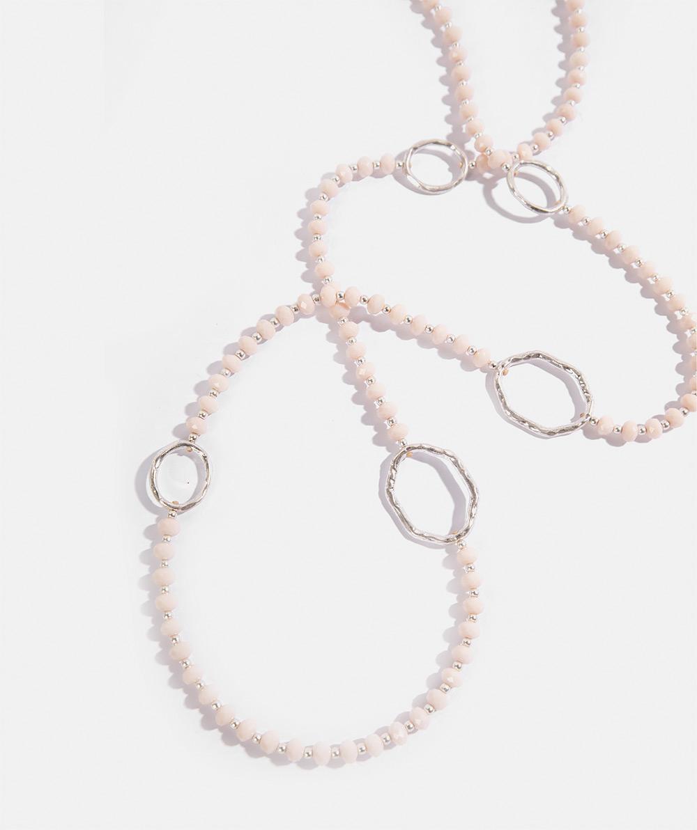 Nude crystal necklace