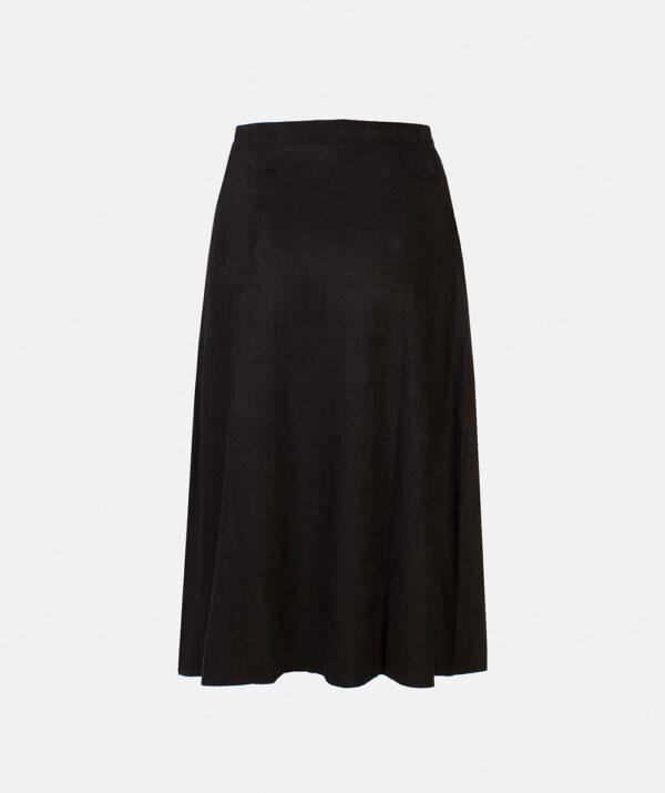 Suede effect skirt