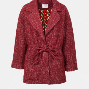 Tweed jacket with lapels