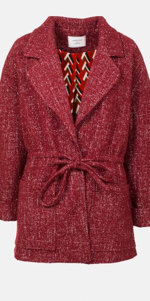 Tweed jacket with lapels