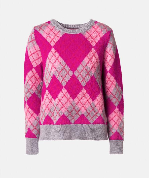 Jacquard knit sweater