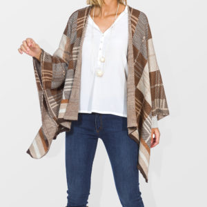 Jacquard knit cape