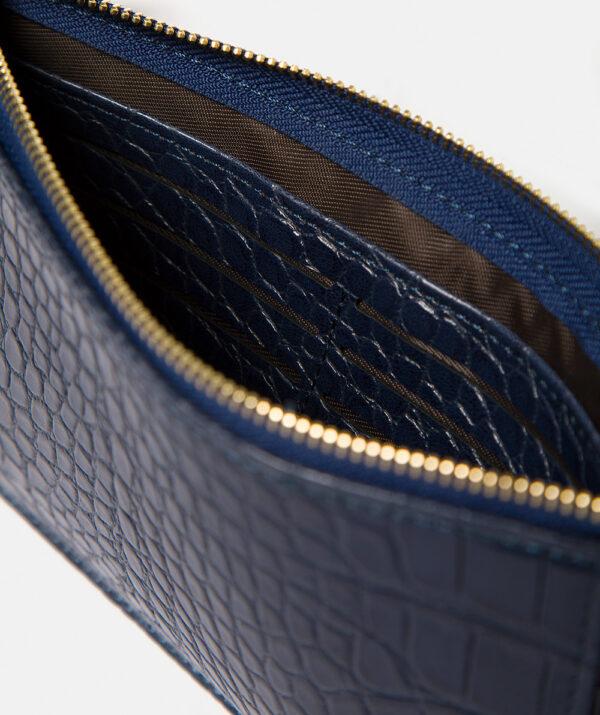 Croc effect purse