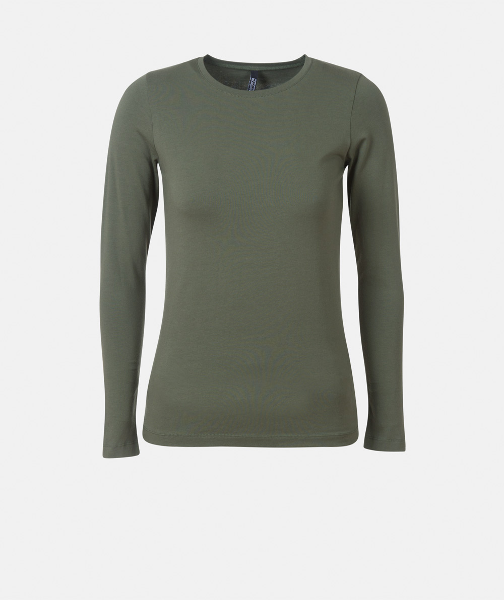 Round neck t-shirt with long sleeve