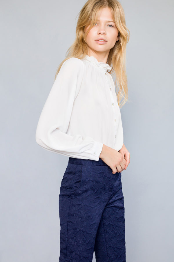 High Collar Blouse