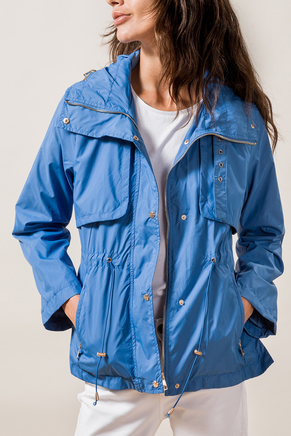 Hooded Parka with Collar