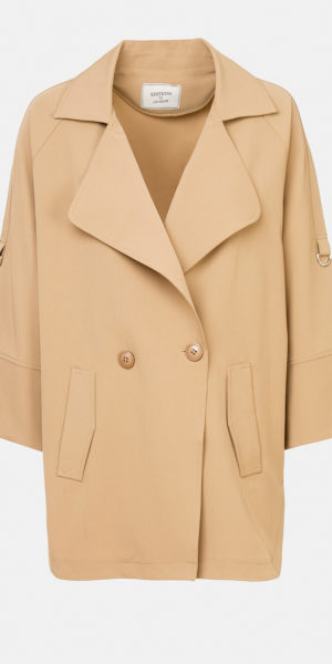 Double-breasted parka with lapels