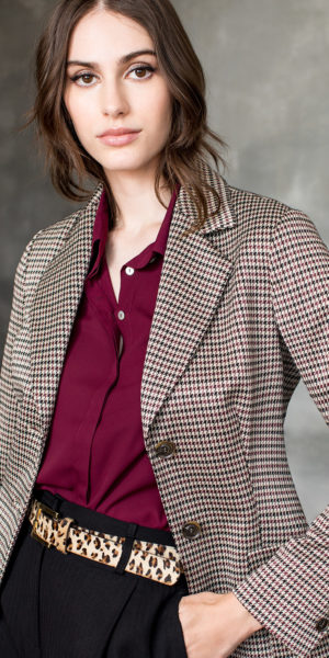 Plain Shirt with Classic Collar