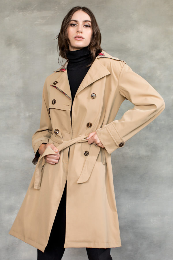 Double-breasted raincoat