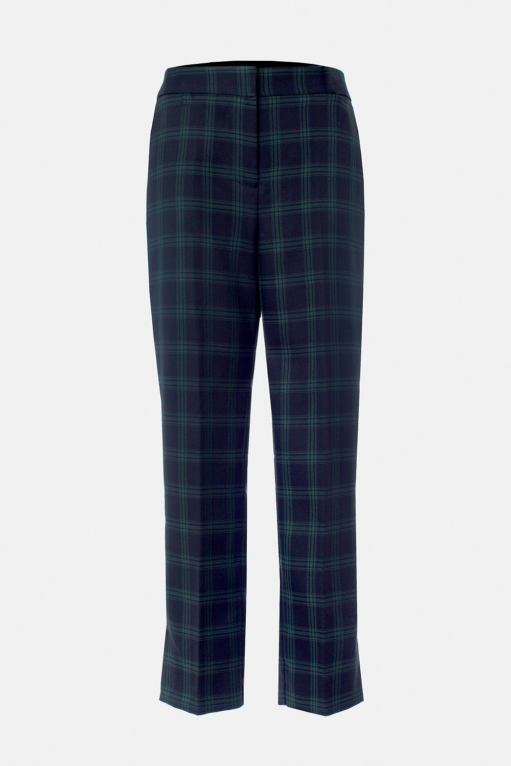 Checked cropped straight leg pants