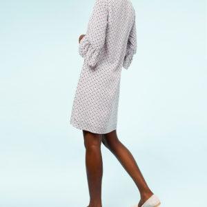 Geometric print a-line dress