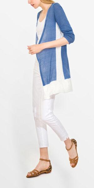Two Tone Linen Cardigan