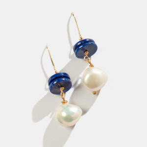 beaded earrings with pearl