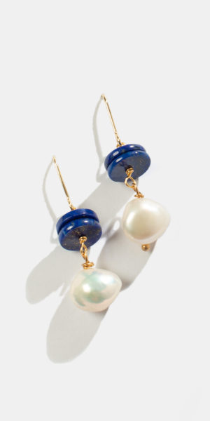 beaded earrings with pearl