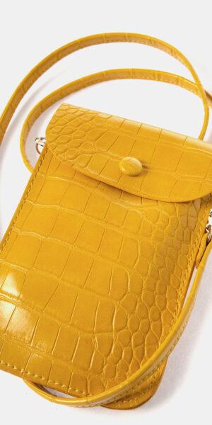 Croc Effect Phone Bag