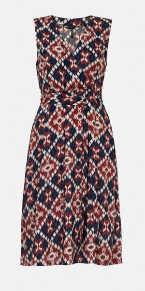 printed cross-front dress