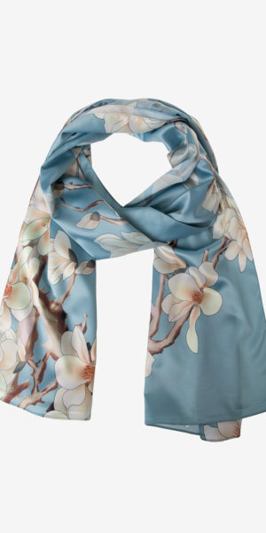 Floral print satin scarf