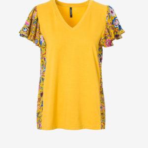 Printed V-neck T-shirt