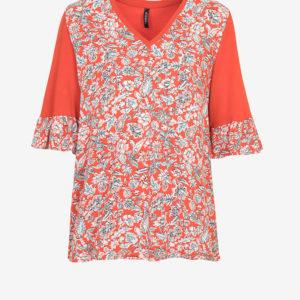 Floral Print V-neck T-shirt